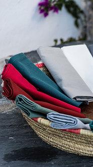 YUCO - Lot de 12 serviettes de table