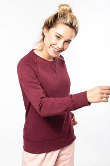 K481 - Sweat-shirt Bio col rond manches raglan femme