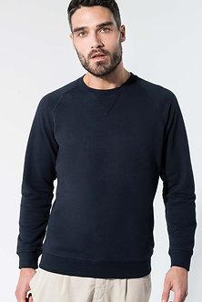 K480 - Sweat-shirt Bio col rond manches raglan homme
