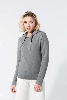 K483 - Sweat-shirt Bio capuche femme