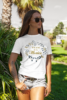 T-shirt mariée fleurs