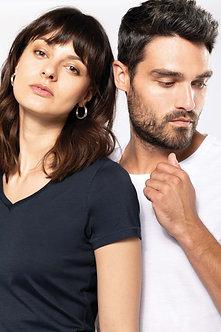K3003 - T-shirt Supima® col V manches courtes femme
