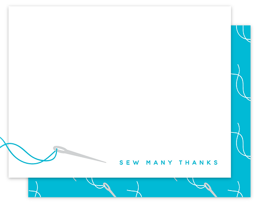 Sew Many Thanks Note Cards