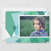 Abstract Tree Photo Holiday Card