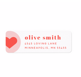 Hearts Galore Address Labels