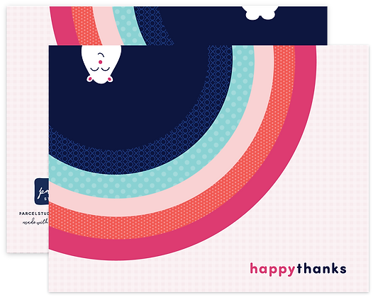 Happy Thanks Critter Note Cards