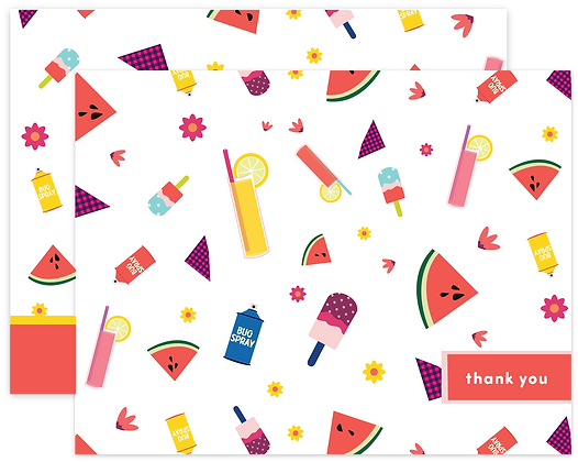Picnic Thank You Cards