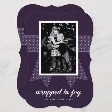 Wrapped In Joy Photo Holiday Card