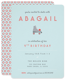 Roller Skate Party Invitation by Parcel Studios