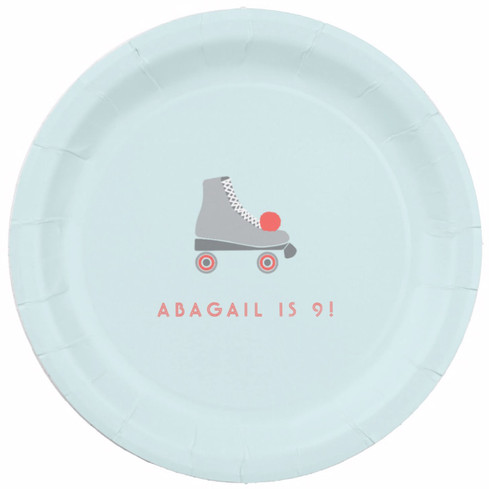 Roller Skate Party Plate