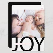Modern Joy Photo Holiday Card