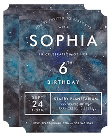 Space Party Invitation by Parcel Studios