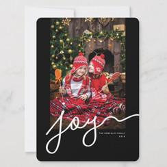 Wavy Joy Photo Holiday Card