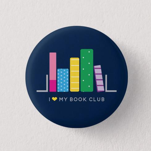 I Love My Book Club Pin