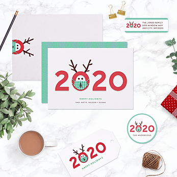 Humorous Masked Reindeer 2020 Holiday Collection