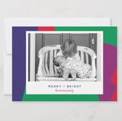 Bold and Bright Photo Holiday Card