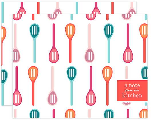 Slotted Spoon Note Cards