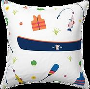 Minnesota Canoe Lake Life Pillow