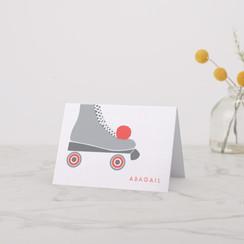 Roller Skate Folded Note Card