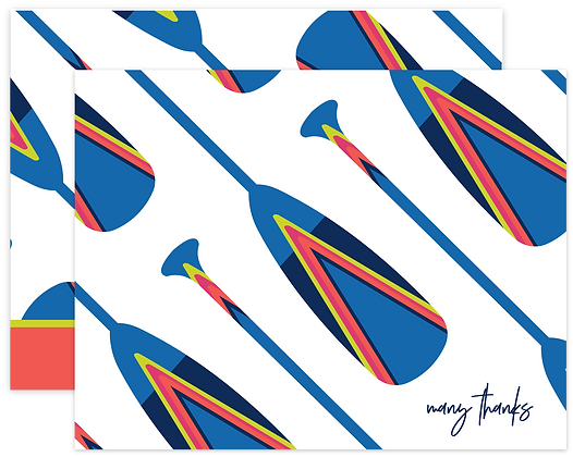 Painted Oars Thank You Cards
