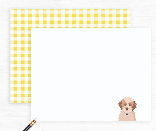 Goldendoodle Puppy Dog Note Cards