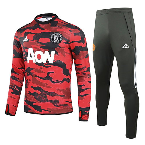 Manchester United red Training Tracksuit 2020/2021