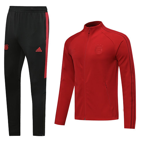 Bayern Munich red on red Tracksuit 2020/2021