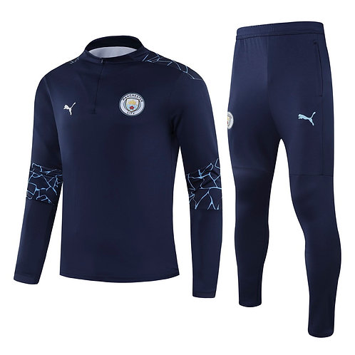 Manchester City Blue Training Tracksuit 2020/2021