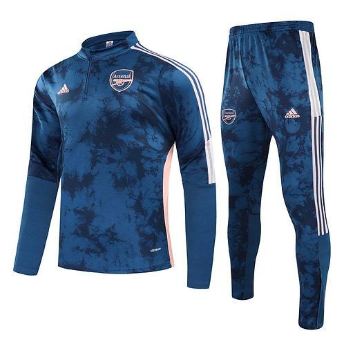 Arsenal Blue Training Tracksuit 2020/2021