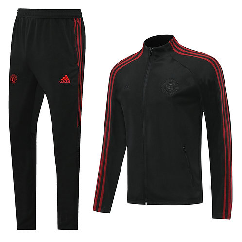Manchester United black on black Tracksuit 2020/2021