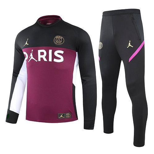 PSG Paris Saint Germain Purple Training Tracksuit 2020/2021