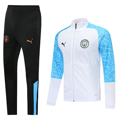 Manchester City white Tracksuit 2020/2021
