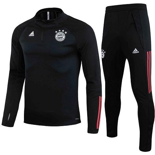 Bayern Munich Black Training Tracksuit 2020/2021