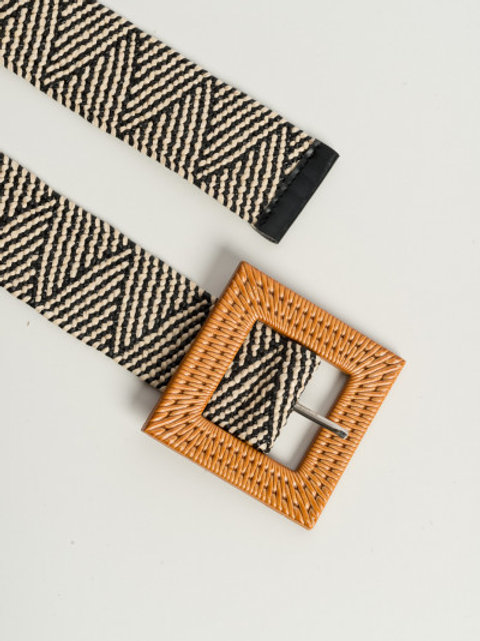 Cintura elastica con fibbia - Bicolore