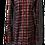 Thumbnail: Vestito chemisier Tartan velluto