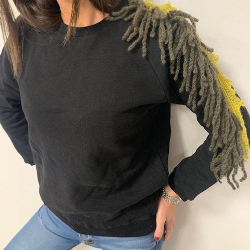 Felpa con frange lana