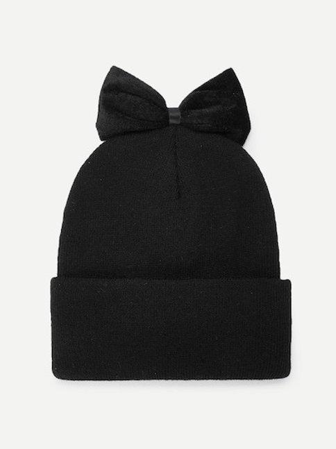 Cappellino cuffia con fiocco