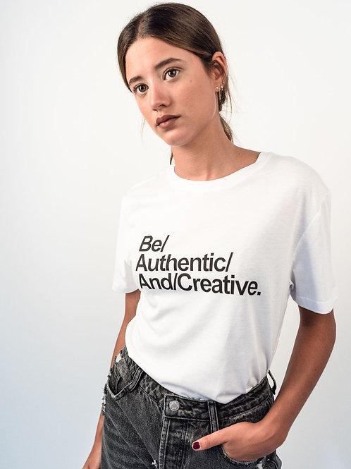 T-shirt girocollo stampa Authentic