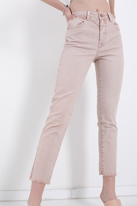 Jeans slim fit  colore beige