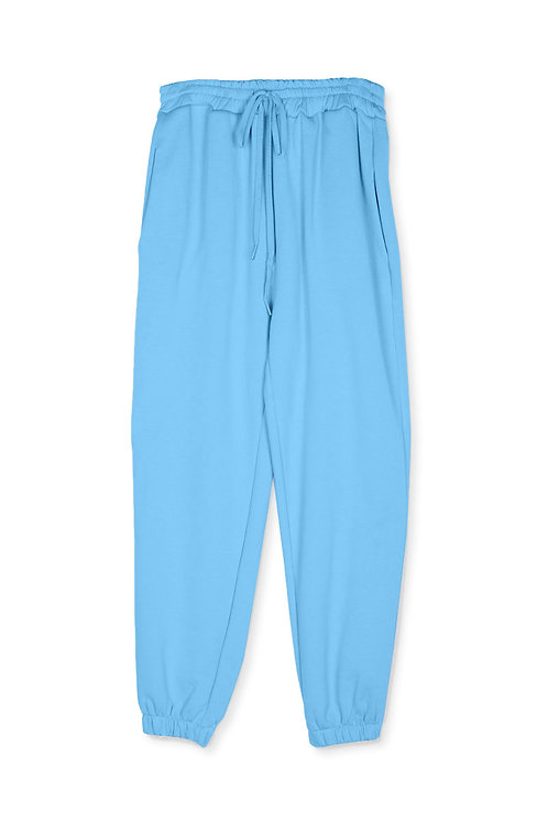 Pantalone in felpa con coulisse TURCHESE