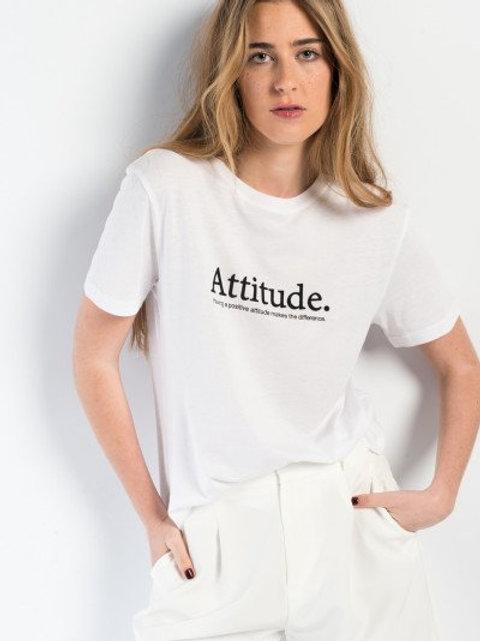T-shirt girocollo stampa Attitude
