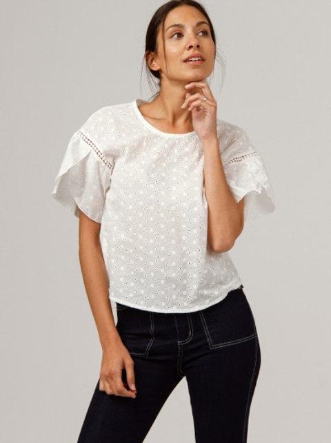 Camicia ampia Ricamata