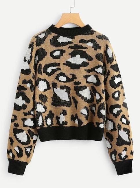 Felpa testurizzata leopard