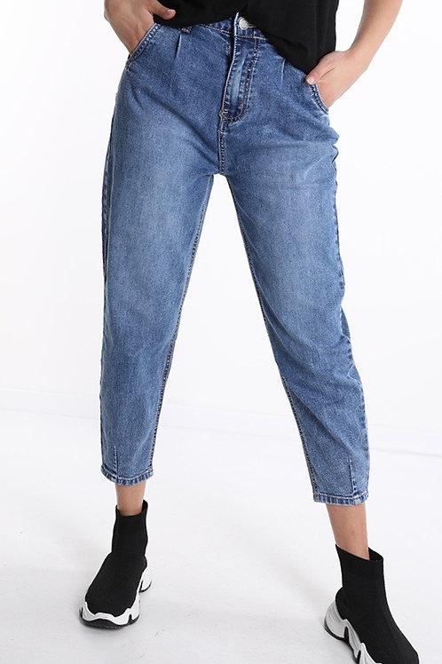 Jeans slouchy cucitura alla caviglia