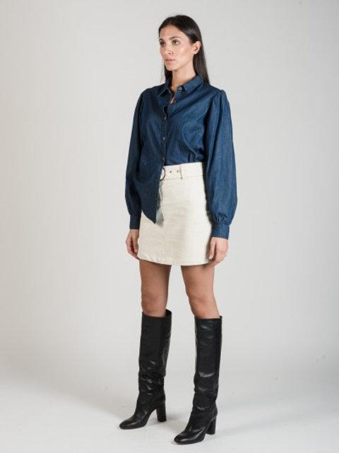 Camicia jeans manica palloncino