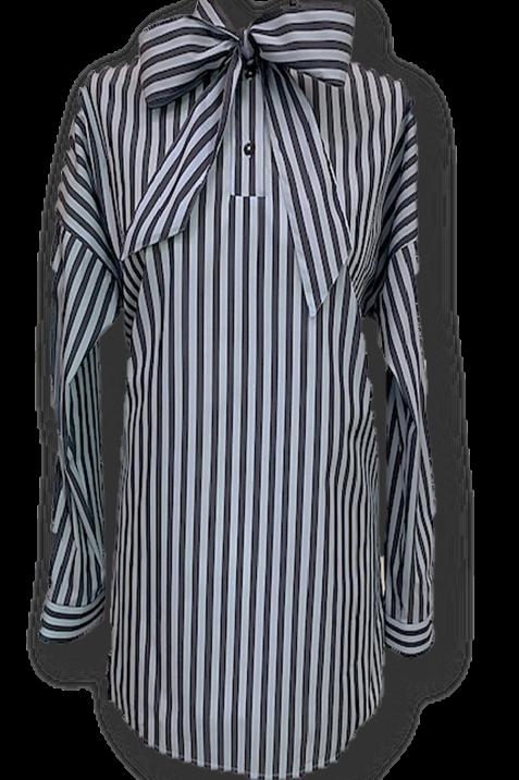 Camicia sartoriale con fiocco BLU