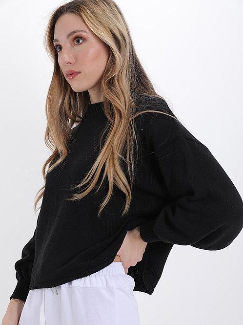 Maglione in cotone manica ampia