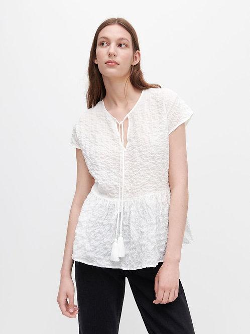 Camicia manica corta con nappine
