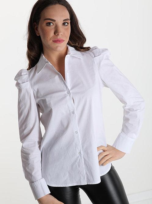 Camicia in cotone con sbuffo