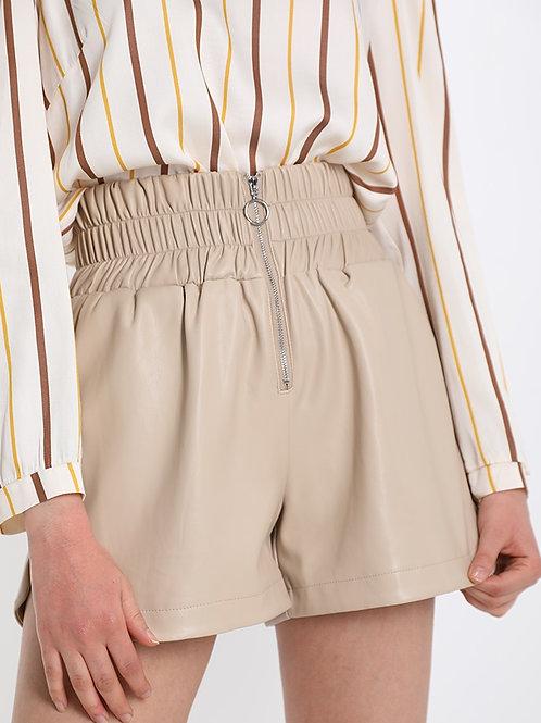 Pantaloncino short ecopelle